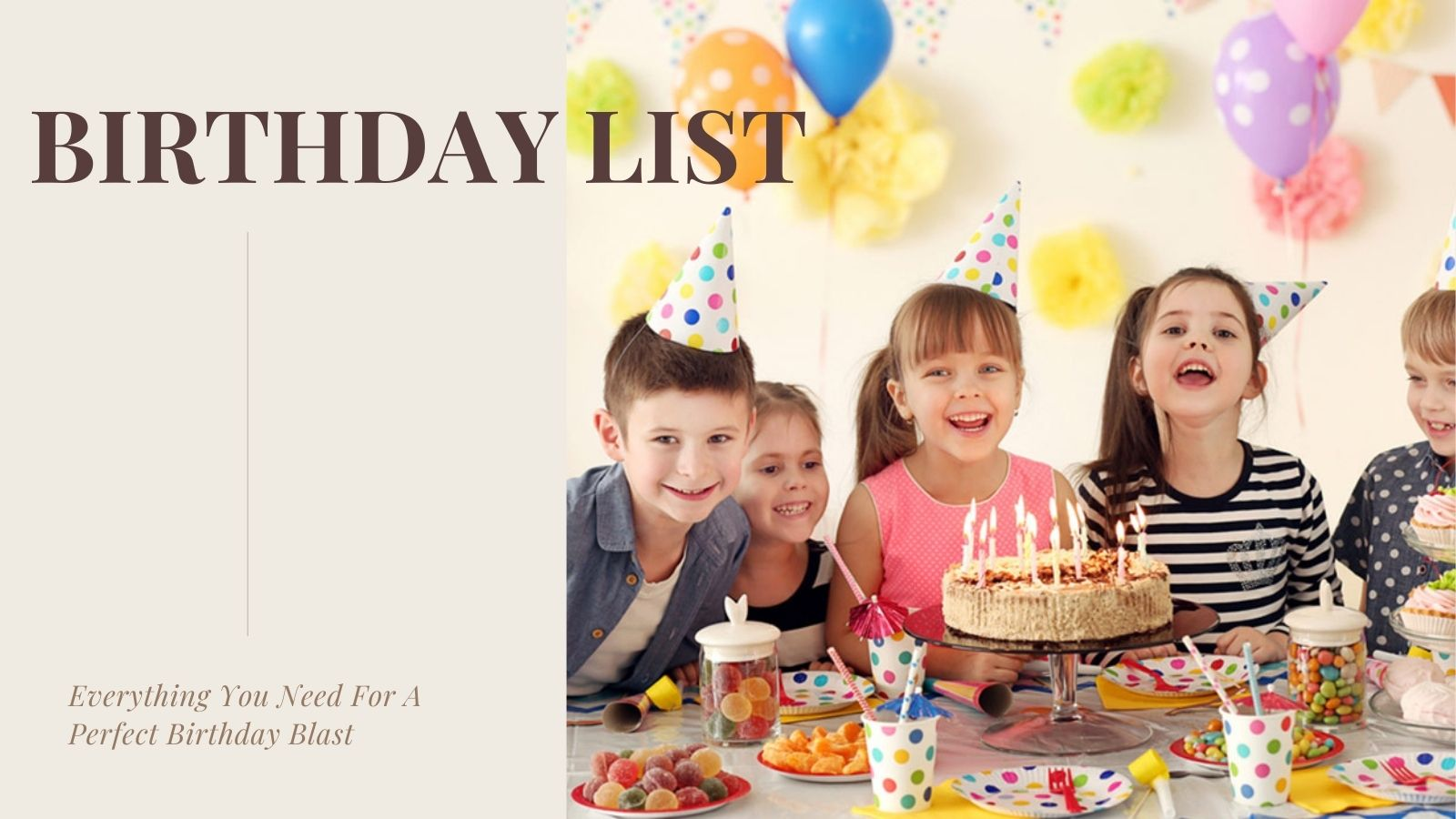 birthday List for preparation